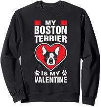 My Boston Terrier Is My Valentine Romantic Day Dog Humor Sweatshirt