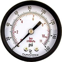 "DuraChoice 2"" Dial Utility Pressure Gauge, Water Oil Gas, 1/4"" NPT Center Back.."