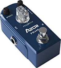 AZOR Vintage Phaser Guitar Effect Pedal, Mini Pedal Pure Analog Processor with True Bypass AP-301