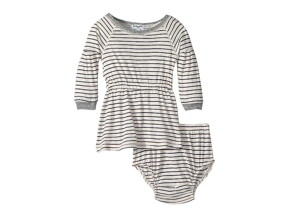 Splendid Littles Yarn-Dyed Long Sleeve Midi Dress Set (Infant) (Pink Stripe) Girl