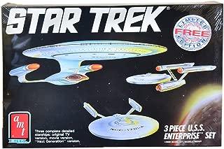 Star Trek 3 Piece U.S.S. Enterprise Set Model Kit Classic, Movie, and Next Generation Ships