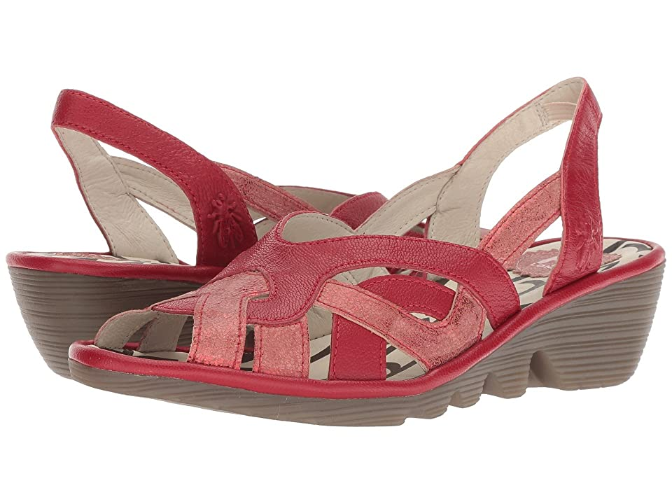 FLY LONDON PIMA887FLY (Red/Lipstick Red Cool/Mousse) Women