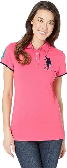 Contrast Patch Big Pony Polo Shirt
