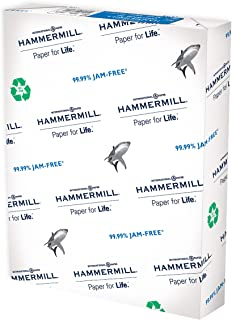 Hammermill Paper, Great White 100% Recycled Copy Paper, 20lb, 8.5 x 11, Letter, 92 Bright, 500 Sheets / 1 Ream (086790), M...