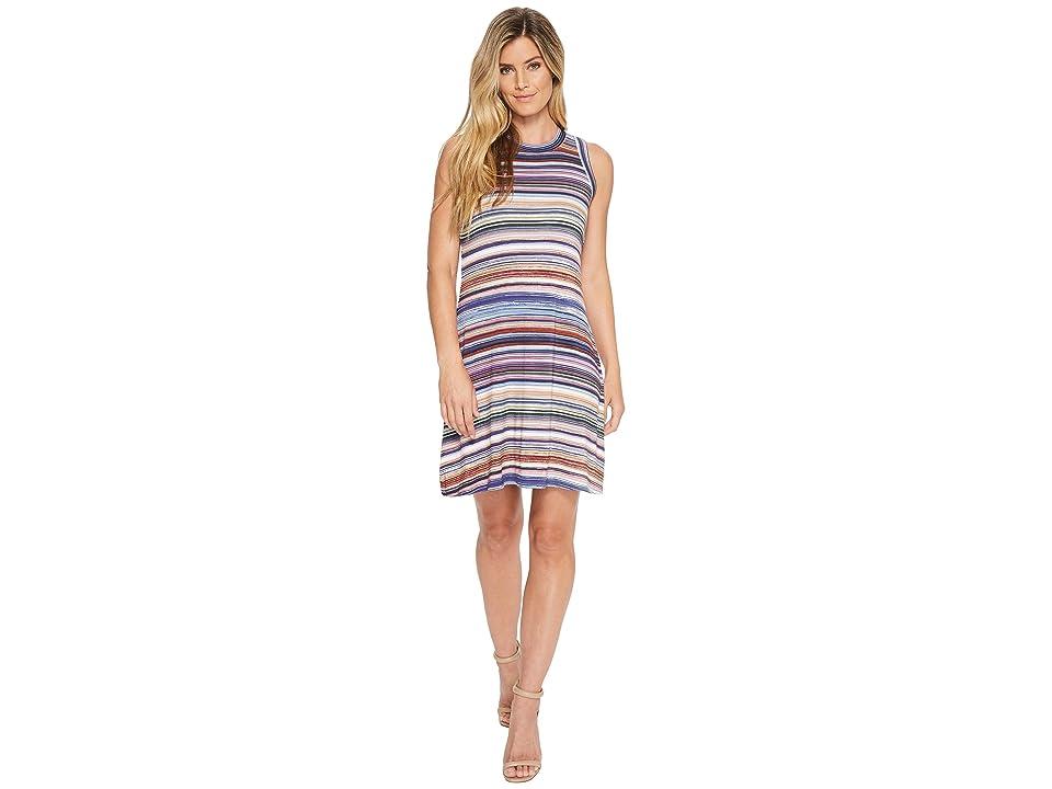Karen Kane Newport Stripe Halter Dress (Stripe) Women