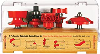 Freud 5 Piece Premier Adjustable Cabinet Bit Set (1/2