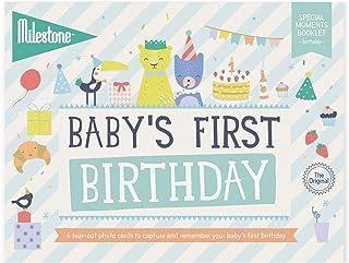 Milestone - Baby's First Birthday 照片卡片小册子 - 6 张照片卡的小册子,可捕捉宝宝的*个令人难忘的生日时刻