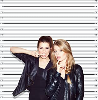 Mugshot Photo Booth Backdrop Banner - 6x6ft, Wide Enough for Everyone, Accurate Measurements for Bachelorette Party, Girls Night Out, Height Charts
