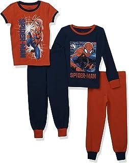 Marvel Pijamas Paquete de 2 para niños Spiderman Ajuste Ceñido