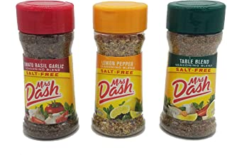 Mrs. Dash Salt Free Seasoning Table Blend, Tomato Basil Garlic, and Lemon Pepper Combination Pack (1 bottle each)