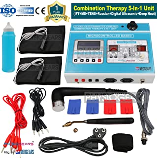 Physiogears Combination 5 In 1 Lcd 125 Programs Computerized Ift+Ms+Tens+Us+Deep Heat Machine