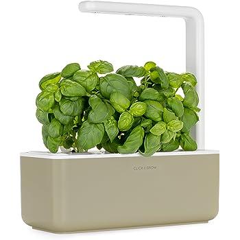 Giardino di aromatiche indoor Click & Grow Smart Garden 3 (Include capsule di semi di basilico), Beige