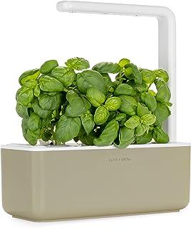 Click and Grow Smart Garden 3 Indoor Herb Garden (Includes Basil Plant Pods), Beige