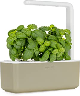 Click and Grow Smart Garden 3 Indoor Gardening Kit (Includes Basil Capsules), Beige