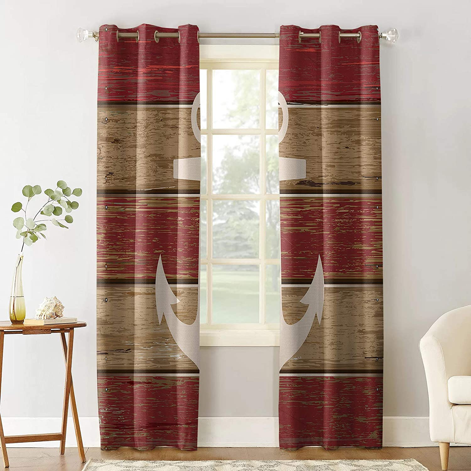 Popular products Sale Prime Leader Blackout Curtain for Wo Bedroom Vintage Anchor Old