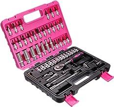 SIXTOL Roze 53 delen in een gereedschapskoffer, Gola-set, CrV-stalen sleutel.