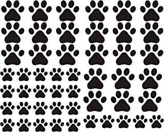 49 Pieces/Set Dog Paws Wall Decals Vinyl Pawprints Sticker Animal Footprint Wall Art Decoration for Kids Boy Girl Baby Nur...
