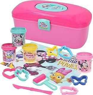 Disney Pack de 4 flacons de pâte à modeler 110 g avec moules et outils, Minnie (Color Baby 77173) Boîte