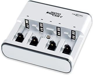ANSMANN PhotoCam V bordsladdare för 1–4 NiMH eller NiCd batterier/batteriladdare för Micro AAA Mignon AA Baby C Mono D och...