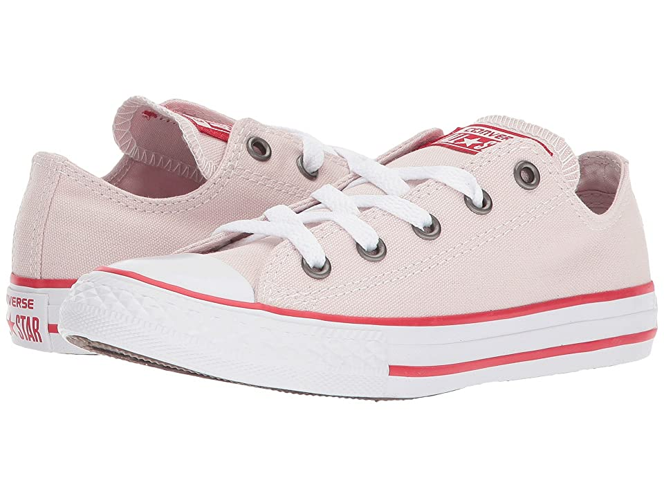 Converse Kids Chuck Taylor All Star Ox (Little Kid) (Barely Rose/Enamel Red/White) Girl