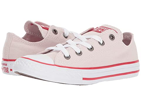Converse Kids Chuck Taylor All Star Ox Little Kid/Big Kid Girl's Shoes (5 Big Kid M, Sunset Glow/Sunset Glow/White)
