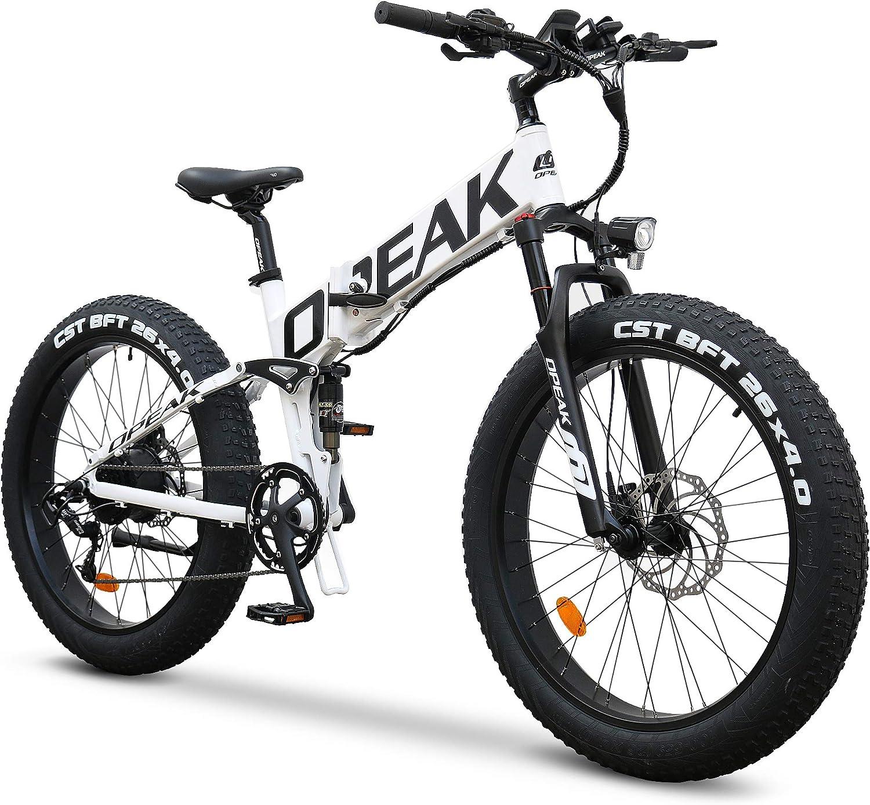 Opeak Ebike Foldable Electric Ranking TOP12 Bike 750W 12AH High Motor Regular dealer R Speed