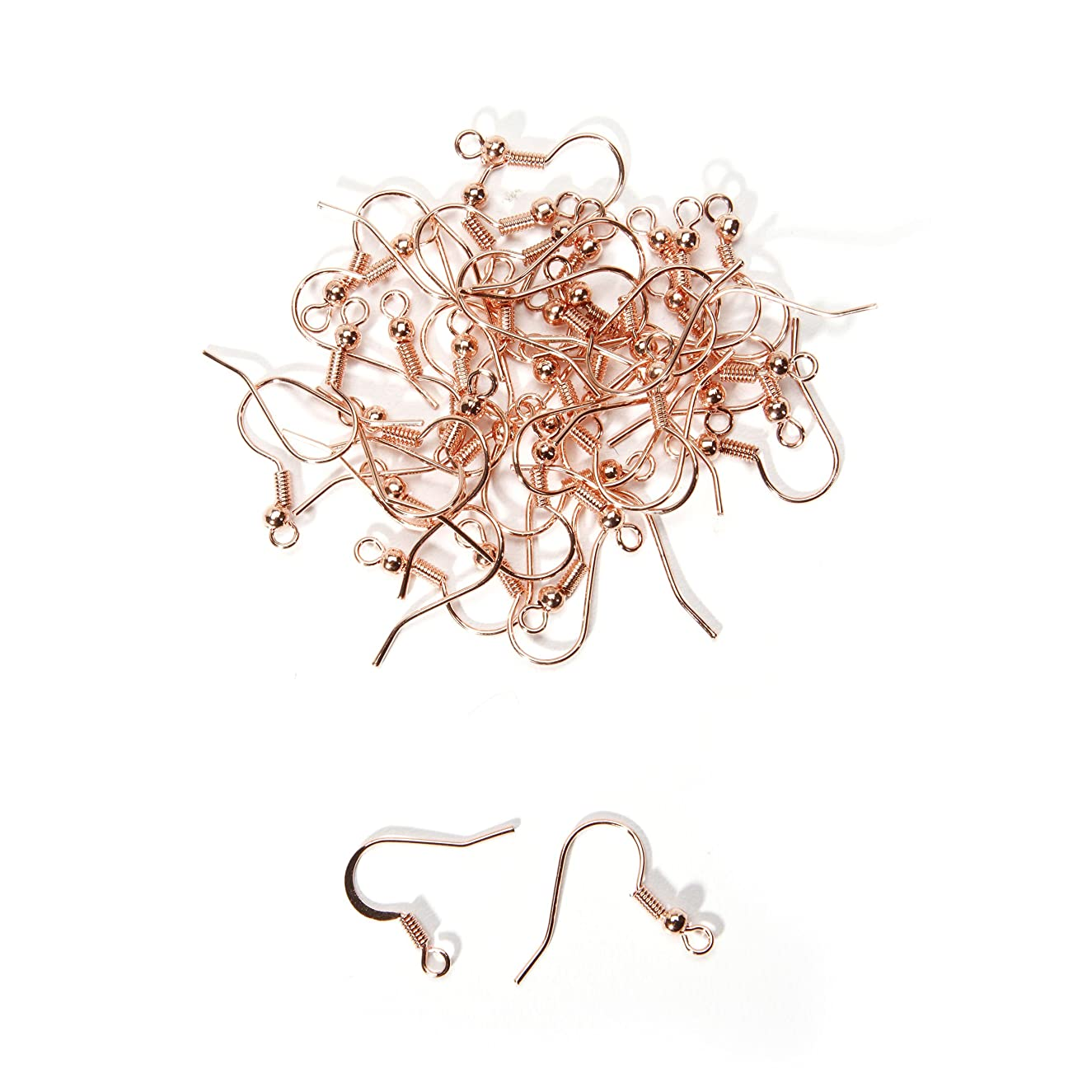 French Earwires -Rose Gold - 40 Pieces