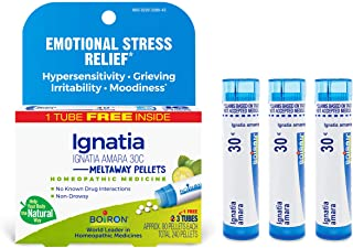 Boiron Ignatia Amara 30c Homeopathic Medicine for Emotional Stress Relief, 3 Tubes
