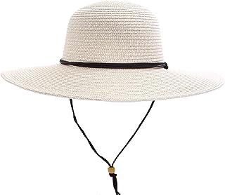 c1c8b8511e0 Simplicity Women s UPF 50+ Wide Brim Braided Straw Sun Hat with Lanyard