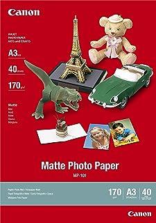 Canon consumible papel fotográfico mate MP-101 A3 40 hojas