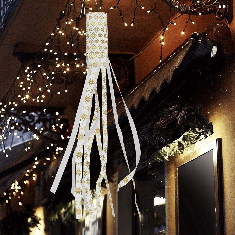 Qomrcy Abstract Snow Sales Halloween Wind Led Hangi Bag Lights San Jose Mall Outdoor