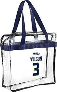 FOCO - NFL Player Stadium Approved Clear Zippered Messenger Tote Bag