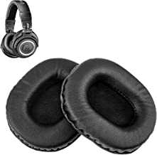 Audio Technica ATH M50X Replacement Ear Pads by Link Dream - Replacement Ear Cushions Kit Memory Foam Earpads Cushion Cover for ATH M50X M40X M40 Series 2 Pieces