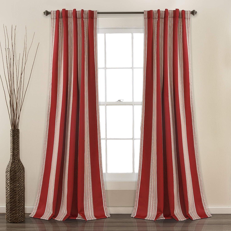 Max 48% OFF Lush Super beauty product restock quality top Decor Julia Stripe Room Panel Window Darkening Pair Curtain