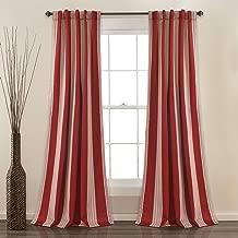 Lush Decor Julia Stripe Room Darkening Window Curtain Panel Pair, 84