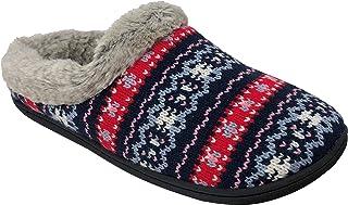 Dearfoams Women's Knit Clog Memory Foam Slipper
