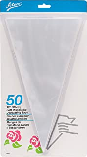 Ateco 4625 Soft Disposable Decorating Bags, 12-Inch, Pack of 50, Made in USA