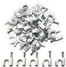 8 mm 6 mm 9 mm 4 mm 12 mm 10 mm 5 mm Qliver 600 pinzas de sujeci/ón para cable con clavo enchufado 7 mm tama/ño: 3,5 mm