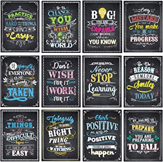 Motivational Posters for Classroom Inspirational Quotes Posters Wall Art for Students Teachers Classroom Decorations 12 x ...