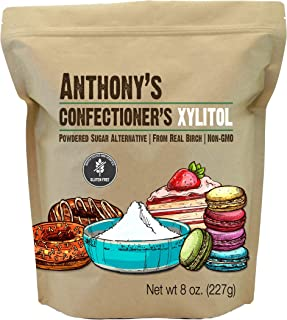 Sponsored Ad - Anthony's Confectioner's Xylitol Sweetener, 8 oz, Powdered Sugar Alternative, Made from Birch, Gluten Free,...