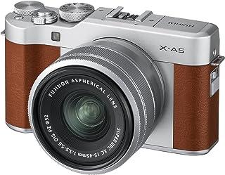 Fujifilm X-A5 Mirrorless Digital Camera w/XC15-45mm F3.5-5.6 OIS PZ Lens, Brown