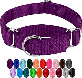 Country Brook Design   Martingale Heavyduty Nylon Dog Collar Small, 3/4 Inch Wide Purple CNM-PUR-S3.4