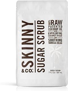 Sponsored Ad - SKINNY & CO. Vanilla Sugar Body Scrub- 100% Raw All Natural Exfoliant Made with Coconut Oil, Coconut Sugar,...