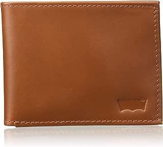 Levi's Medium Brown Men's Wallet (Sueded Batwing Bifold)