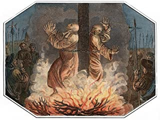 Nicholas Ridley (1500-1555) Nenglish Religious Reformer And Protestant Martyr The Burning Of Bishops Nicholas Ridley (Left) And Hugh Latimer At The Stake Near The Gates Of Balliol College Oxford Engla
