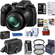 Panasonic Lumix FZ1000 II 20.1MP Digital Camera, 25-400mm f/2.8-4 Leica DC Lens, 4K Video, DC-FZ1000M2 Bundle with Case, 64GB SD Card, Filter Kit, Battery, Charger, Corel Mac Software Pack + More