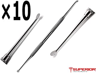 10 Pcs Superior Dental Molt Curettes Curettage Cyst Removal Debridement Stainless Steel Instruments