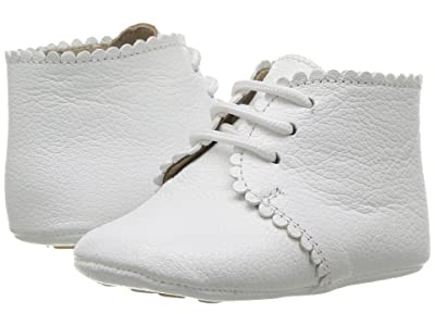 Elephantito Scalloped Bootie (Infant/Toddler) (Textured White) Girls Shoes
