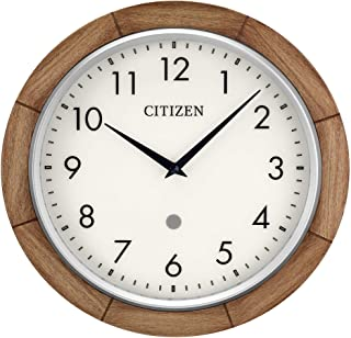 Citizen Clocks CC5011 Citizen Smart Echo Compatible Wall Clock with Multiple Timers, 12 in, Brown