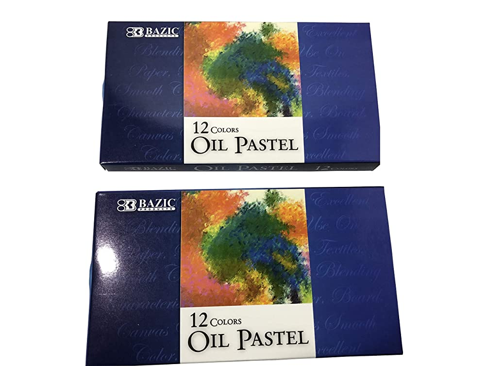 Set of 2 Oil Pastel Boxes. 12 Color in Each Box (Total 24)
